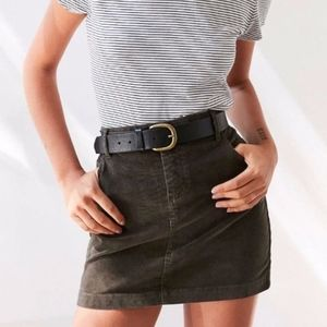 BDG Corduroy Mini Skirt in Forest Green